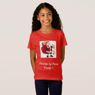 """T-Shirt T shirt """" J'aime le Père Noël """""""