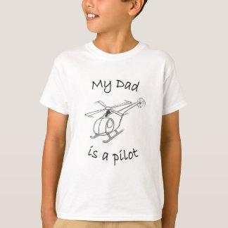 T-shirt T-shirt-Papa de l'hélicoptère de l'enfant