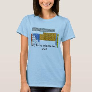 T-shirt table périodique, ma chemise chanceuse d'essai de