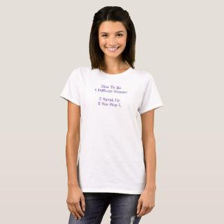 T-shirt Tableau noir difficile de femme