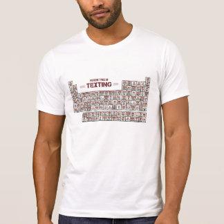 T-shirt Tableau périodique de service de mini-messages