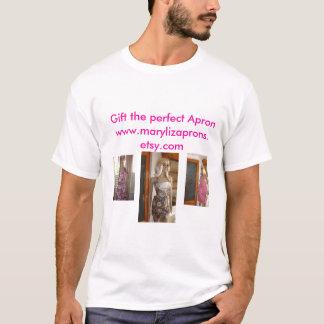 T-shirt Tablier floral étincelant 001, Brown vintage,