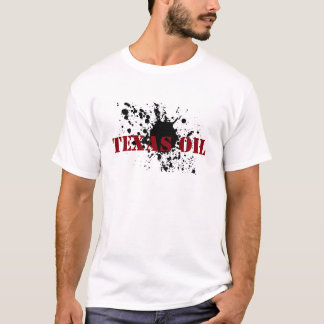 T-shirt Tache d'huile de pochoir de noir de pétrole du