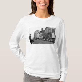 T-shirt Tacoma, vue de WA de Broadway semblant du nord