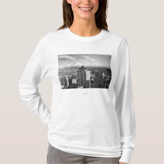 T-shirt Tacoma, vue de WA de plus pluvieux des arts