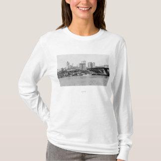 T-shirt Tacoma, WA - vue d'horizon du centre ville