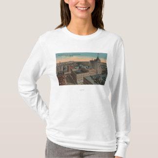 T-shirt Tacoma, WA - vue d'oeil d'oiseau du centre ville