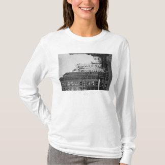 T-shirt Tacoma, WA - vue du centre de rues principales