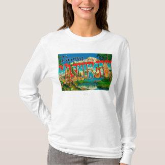 T-shirt Tacoma, Washington - grandes scènes de lettre