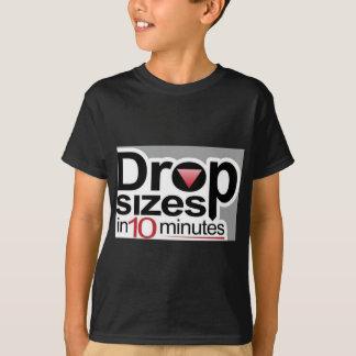 T-shirt Tailles de baisse en 10 minutes