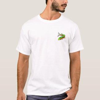 T-shirt Tais-toi et conception des poissons w/Front Pckt