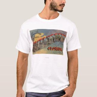 T-shirt Tallahassee, la Floride - grandes scènes de lettre