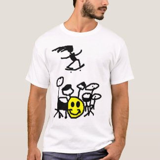 T-shirt Tambour, patin, sourire
