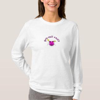 T-shirt Tambour réglé - rose