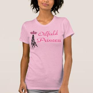 T-shirt Tanktop rose de princesse de gisement de pétrole