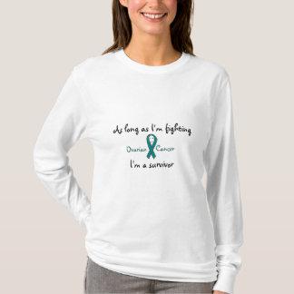T-shirt Tant que je combats le Cancer ovarien que je suis