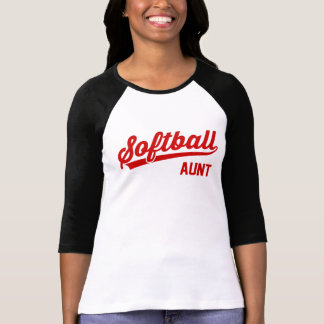T-shirt Tante du base-ball