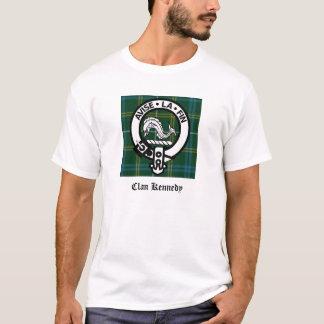 T-shirt Tartan de crête de Kennedy de clan