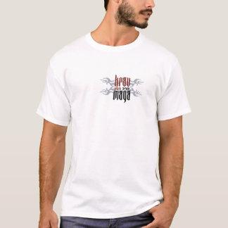 T-shirt Tatouage de roche de Krav Maga avec l'hébreu