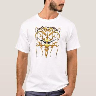 T-shirt Tatouage tribal de méduse - or sur le noir