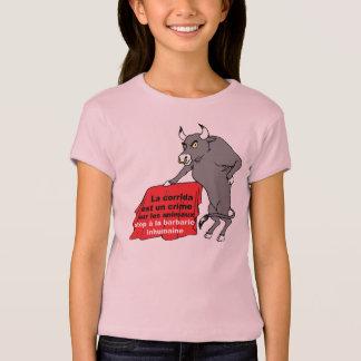 t-shirt taureau anti corrida