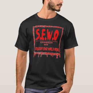 T-shirt TEAW- chemise droite d'ordre mondial de bord