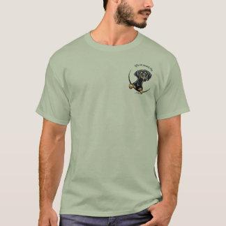 T-shirt Teckel bronzage noir son tout environ je