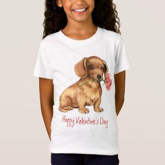 T-Shirt Teckel rose de Valentine