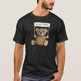 T-shirt teddy bear with sign for your individuellement