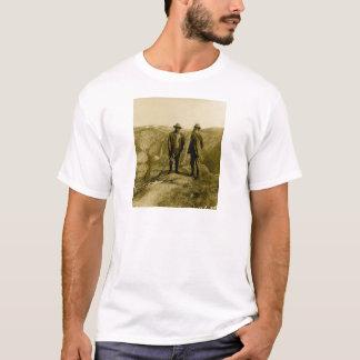 T-shirt Teddy Roosevelt et John Muir au point de glacier