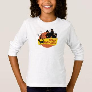 T-shirt Tee Shirt Basic A Manches Longue Fille Halloween