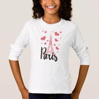 T-shirt Tee Shirt Basic A Manches Longue Fille PAris