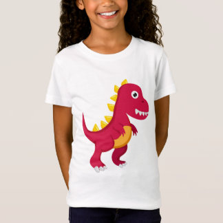 T-Shirt Tee Shirt Basic Fille Dinosaure