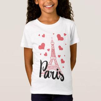 T-Shirt Tee Shirt Basic Fille Paris