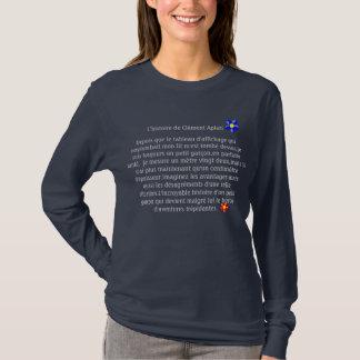T-shirt Tee shirt bleu manches longues Femmes