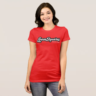 T-shirt Tee - shirt-Dames blanches de logo de LooseSquares