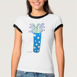 T-shirt Tee - shirt d'art : Vase et jacinthes des bois