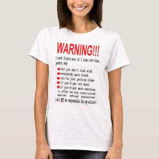 T-shirt Tee - shirt d'avertissement de lupus