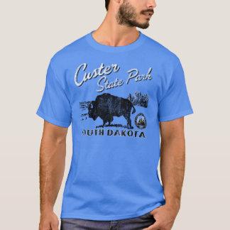 T-shirt Tee - shirt de Buffalo de parc d'état de Custer