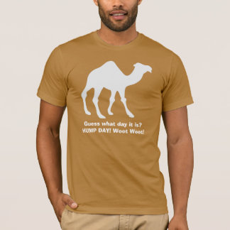T-shirt Tee - shirt de chameau de journée en milieu de