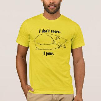 T-shirt Tee - shirt de chat de sommeil