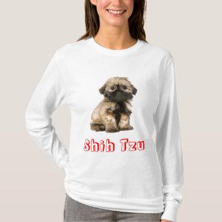 T-shirt Tee - shirt de chiot de Shih Tzu d'amour