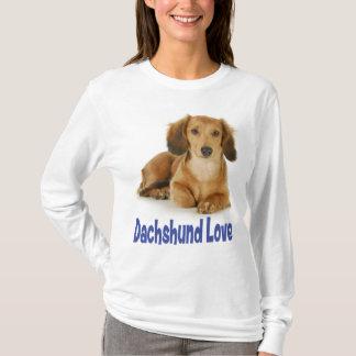 T-shirt Tee - shirt de chiot de teckel d'amour
