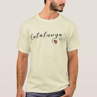 T-shirt Tee - shirt de coeur de Catalunya, catalan