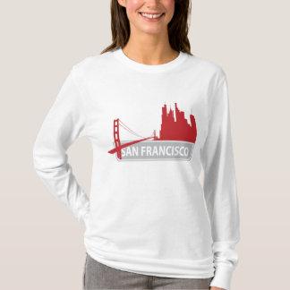 T-shirt Tee - shirt de dames de San Francisco golden gate