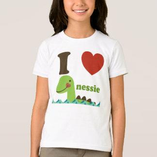 T-shirt Tee - shirt de filles de Nessie de coeur du