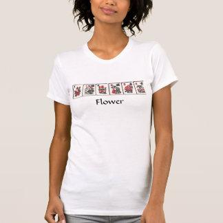 T-shirt Tee - shirt de fleur d'heure-milliampère Jongg
