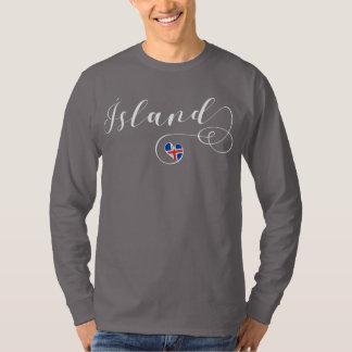 T-shirt Tee - shirt de l'Islande de coeur, Ísland