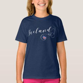T-shirt Tee - shirt de l'Islande de coeur, islandais