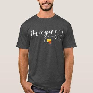 T-shirt Tee - shirt de Prague de coeur, République Tchèque